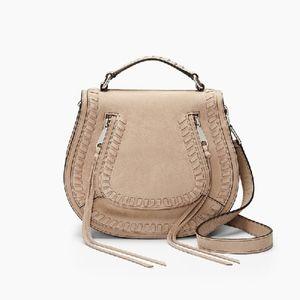 Rebecca Minkoff crossbody nubuck camel purse